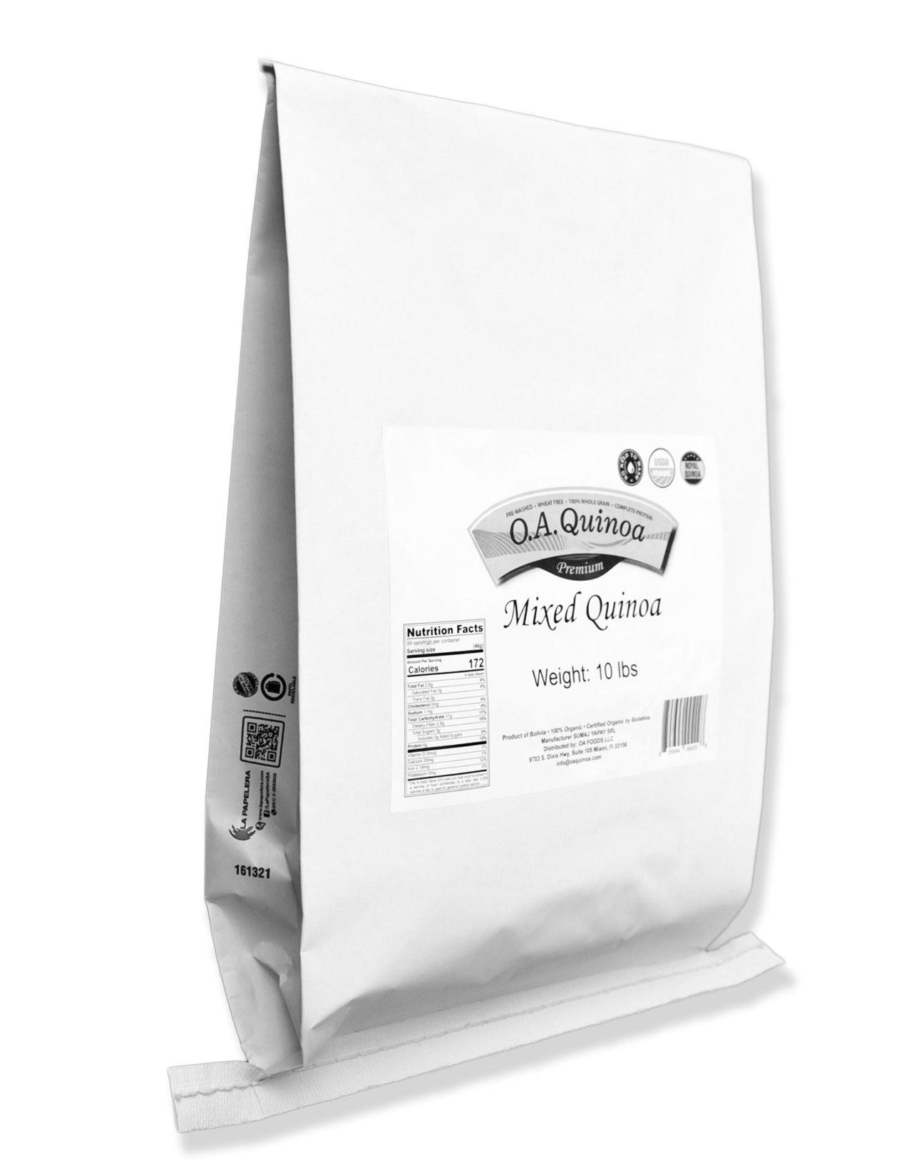 Royal Organic Tri Color OA Quinoa (10 Lb Bag) by OA QUINOA (Image #1)