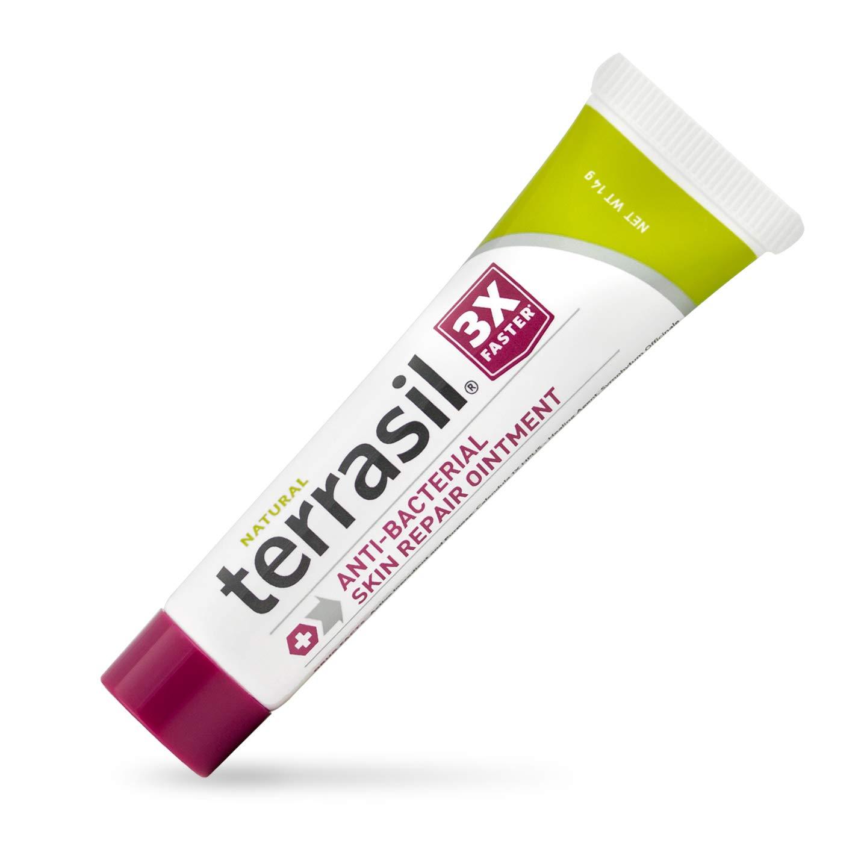 Antibacterial Skin Repair, 3X Faster Natural Ingredients for Treatment of Fissures Folliculitis Angular Cheilitis Impetigo Chilblains Lichen Sclerosus Cellulitis by Terrasil (14 Gram)