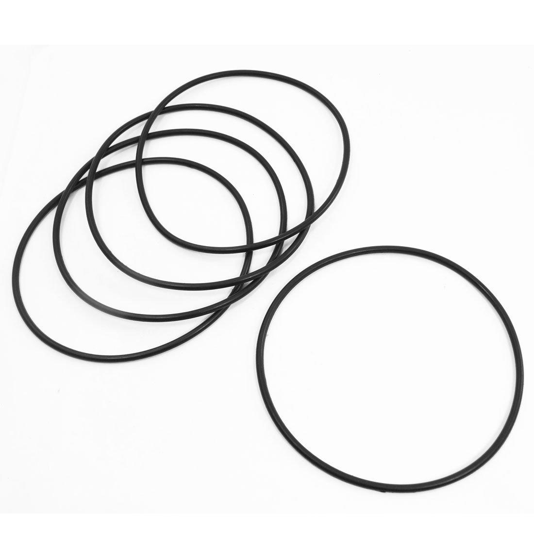 5 piezas de goma Flexible O junta tó rica del arandela junta para olla a presió n negro 120 mm x 3, 5 mm Sourcingmap a14022100ux0191