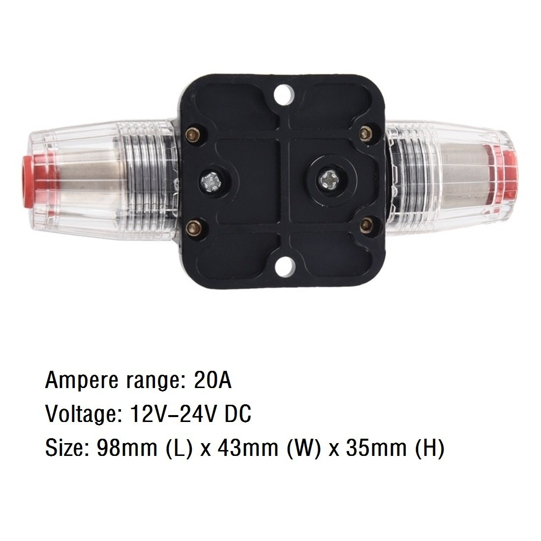 ANJOSHI Fuse Holders 50amp 20-300A Inline Circuit Breaker for Car Audio and Amps Overload Protection Reset Fuse Inverter 12V-24V DC Replace Fuses