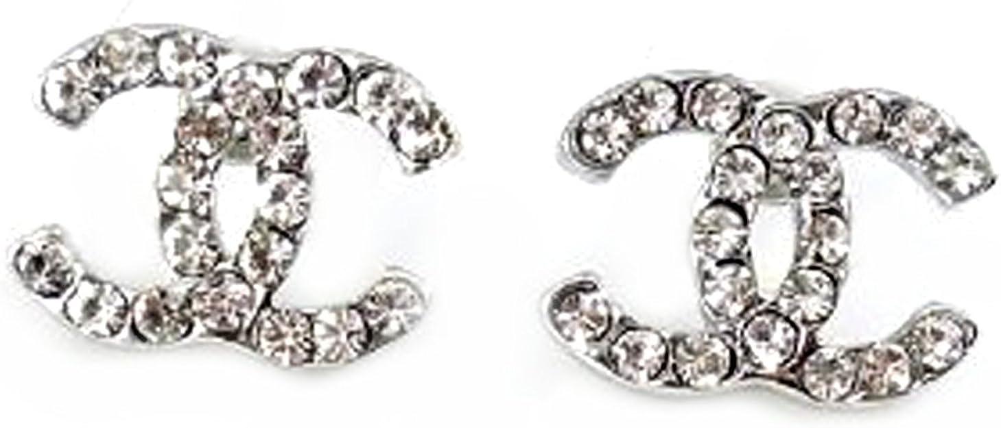 Pink ® CC versilbert Diamant-Goldfisch CC Ohrringe. Geschenk für Frauen  Mädchen Kinder.: mittlerer Größe 6x6mm