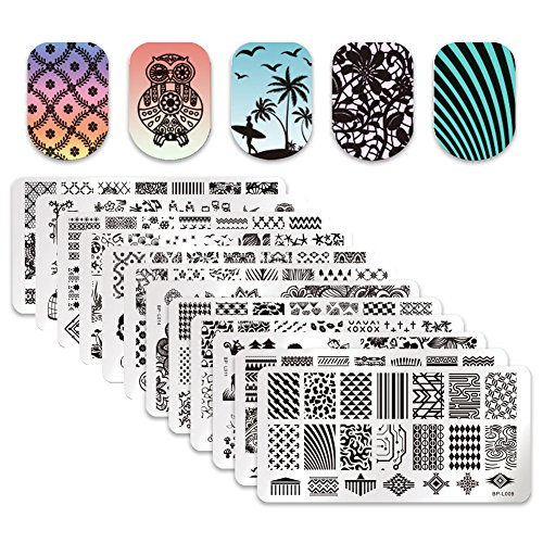 Born Pretty 12Pcs Nail Art Stamp Stamping Template Christmas Snowflake Image Plates DIY Nail -