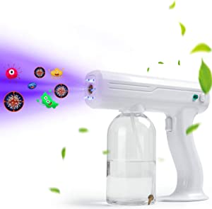 TAISHAN Disinfectant Steam ULV Gun,Handheld Rechargeable Nano Atomizer with Blue Light,27oz Electric Sprayer Nozzle Adjustable Fogger for Home, Office, School or Garden(800mL)
