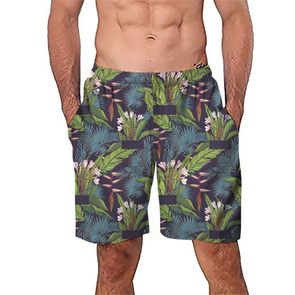 Manzzy Men Casual Printed Beach Pants-Men 3D Graffiti Beach Pants