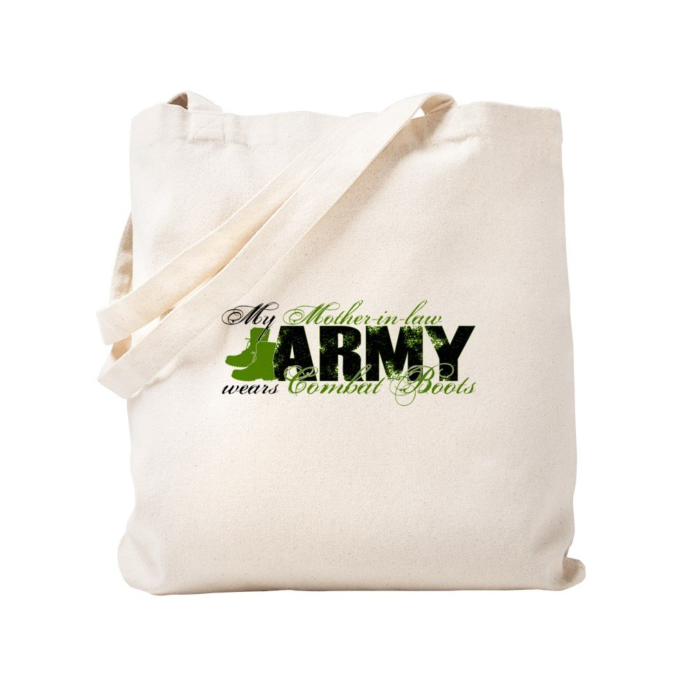 CafePress - Mother Law Combat Boots - ARMY - Natural Canvas Tote Bag, Cloth Shopping Bag