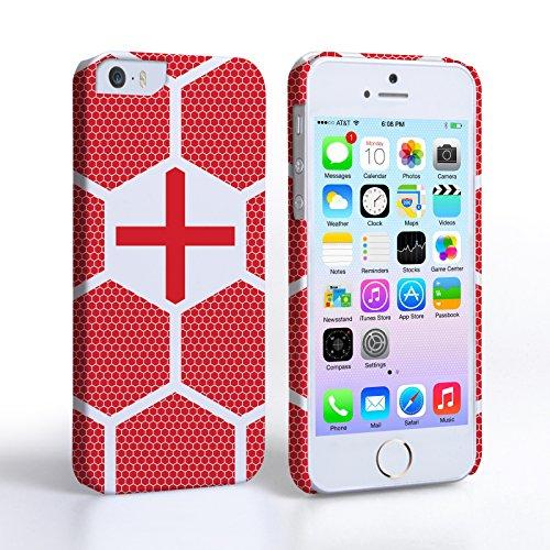 Caseflex iPhone 5 / 5S Hülle England Fußball Muster Weltmeisterschaft Hart Schutzhülle