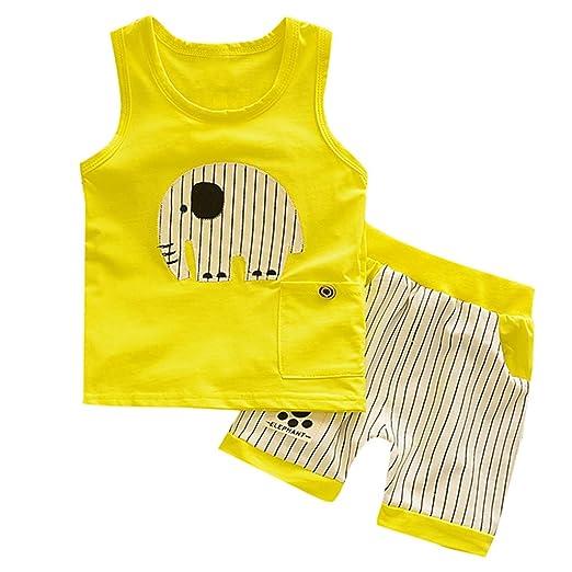 93cfd59fec85 Amazon.com  💝💝Cute Baby Boys Summer Pajamas Set