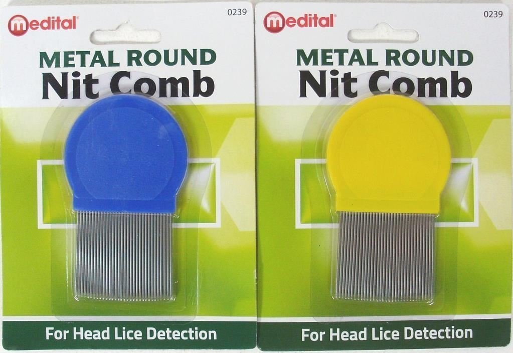 Standard Quality Metal Round Lice Nit Louse Detection Removal Comb Regular Use Dabmoo