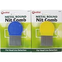Dabmoo Peigne anti-poux rond métallique - Qualité standard - Utilisation régulière