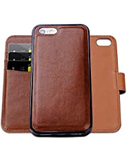 SHANSHUI Wallet Case Compatible with iPhone 5 5s se 6 6s 7 8 6 Plus 7 Plus 6s Plus 8 Plus X XS SE 2020, PU Leather Case with Credit Card Holder