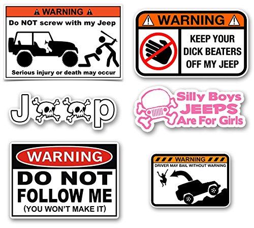 jeep wrangler bumper stickers - 1