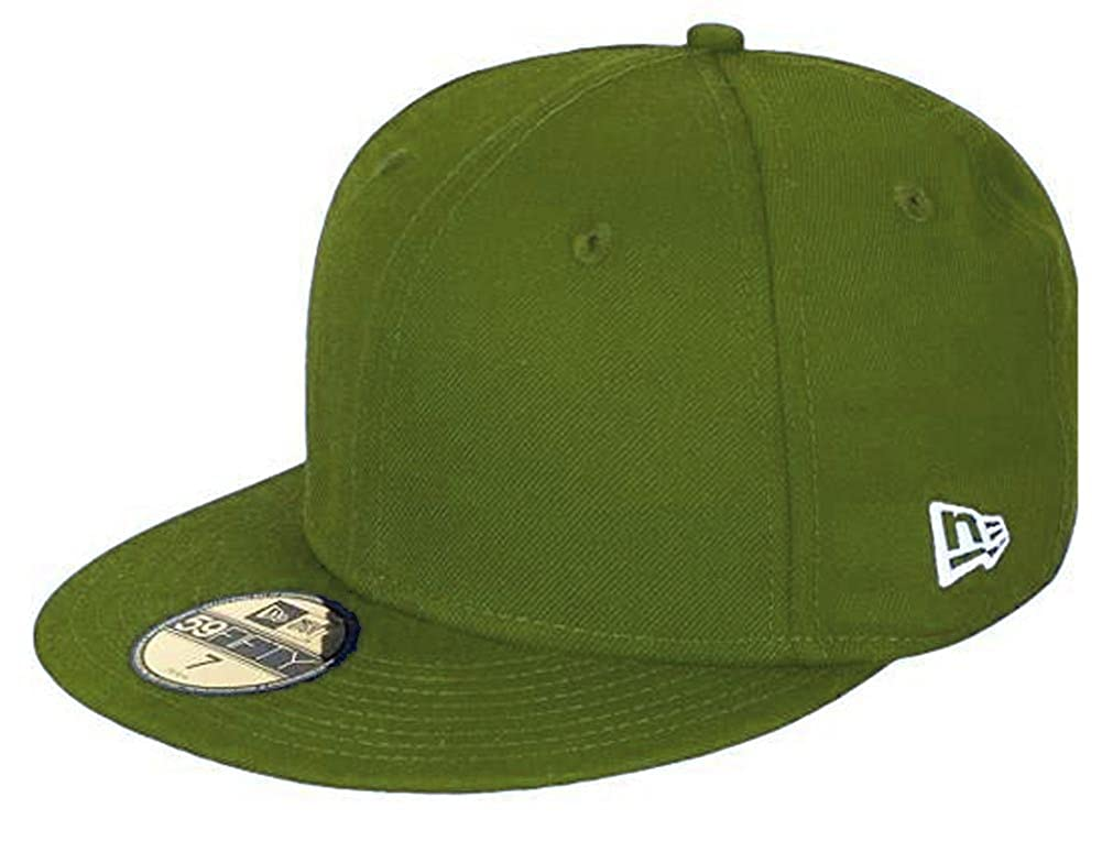 7a426eb78e5a4 Amazon.com  New Era Blank Basic Rifle Green 59fifty 5950 Fitted Cap Kids  Kappe Kinder  Clothing