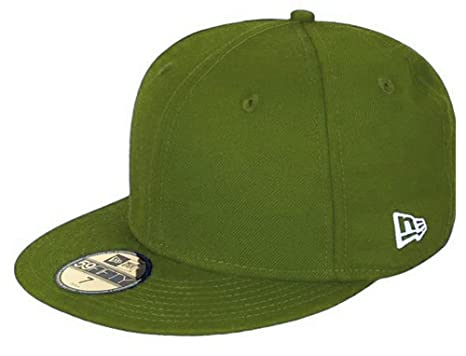 5f50012513e Amazon.com  New Era Blank Basic Rifle Green 59fifty 5950 Fitted Cap Kids  Kappe Kinder  Clothing