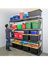 saferacks garage storage rack hammertone steel shelving unit 2u0027d x 8