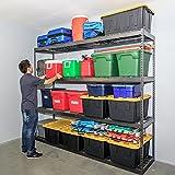 SafeRacks Garage Storage Rack - Hammertone | Steel Shelving Unit | 2'D x 8'W x 7'T