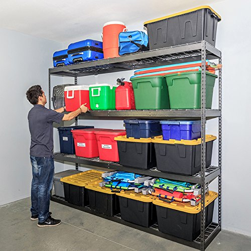 SafeRacks Garage Storage Rack - Hammertone | Steel Shelving Unit | 2'D x 8'W x 7'T by SafeRacks