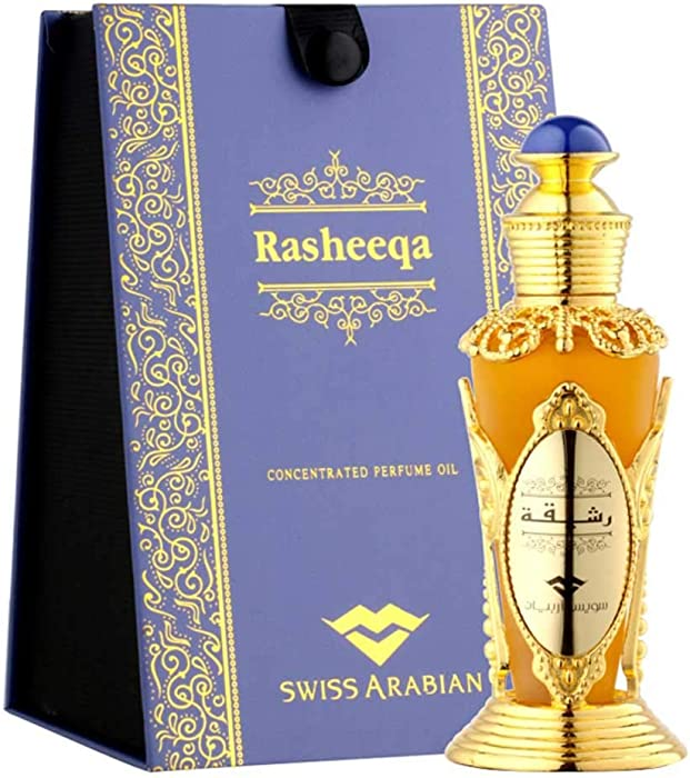 RASHEEQA Perfume Oil for Women 20mL | Charming Oriental Garden Full of Flowers in Bloom; Rose, Fresh Greens, and Jasmine with a Musk, Sandalwood and Cedarwood Base | Body Oil by Artisan Swiss