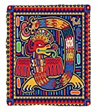 Chaoran 1 Fleece Blanket on Amazon Super Silky Soft All Season Super Plush Mexican Decorations Collection Aztec Pattern Ethnic Colorful Ornamental Mythology Ancient Historynake Image Fabric Extra Red