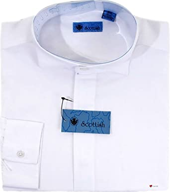 Gents Victorian Collar White Formal Shirt Used with Rushe and Cravats Neck 15