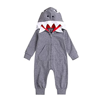 aaeb2d735fbc Amazon.com  Baby Pajamas PJS Newborn Boy Girl 3D Cartoon Shark ...