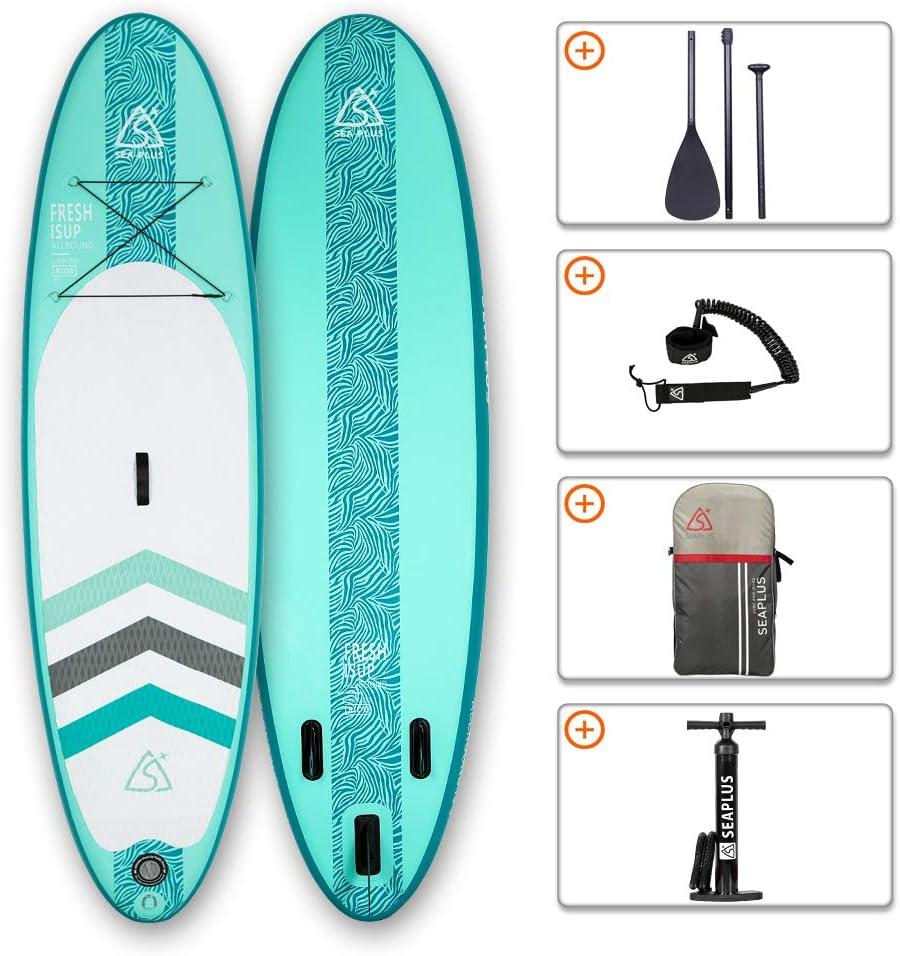 Tabla de Paddle Surf Hinchable Tabla Stand Up Paddle Board Rígida con Accesorios de Remo de Aluminio/Inflador/Leash/Mochila, Carga hasta 130 Kg, CL-G 10'6