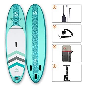 Tabla de Paddle Surf Hinchable Tabla Stand Up Paddle Board Rígida con Accesorios de Remo de Aluminio/Inflador/Leash/Mochila, Carga hasta 130 Kg, CL-G ...