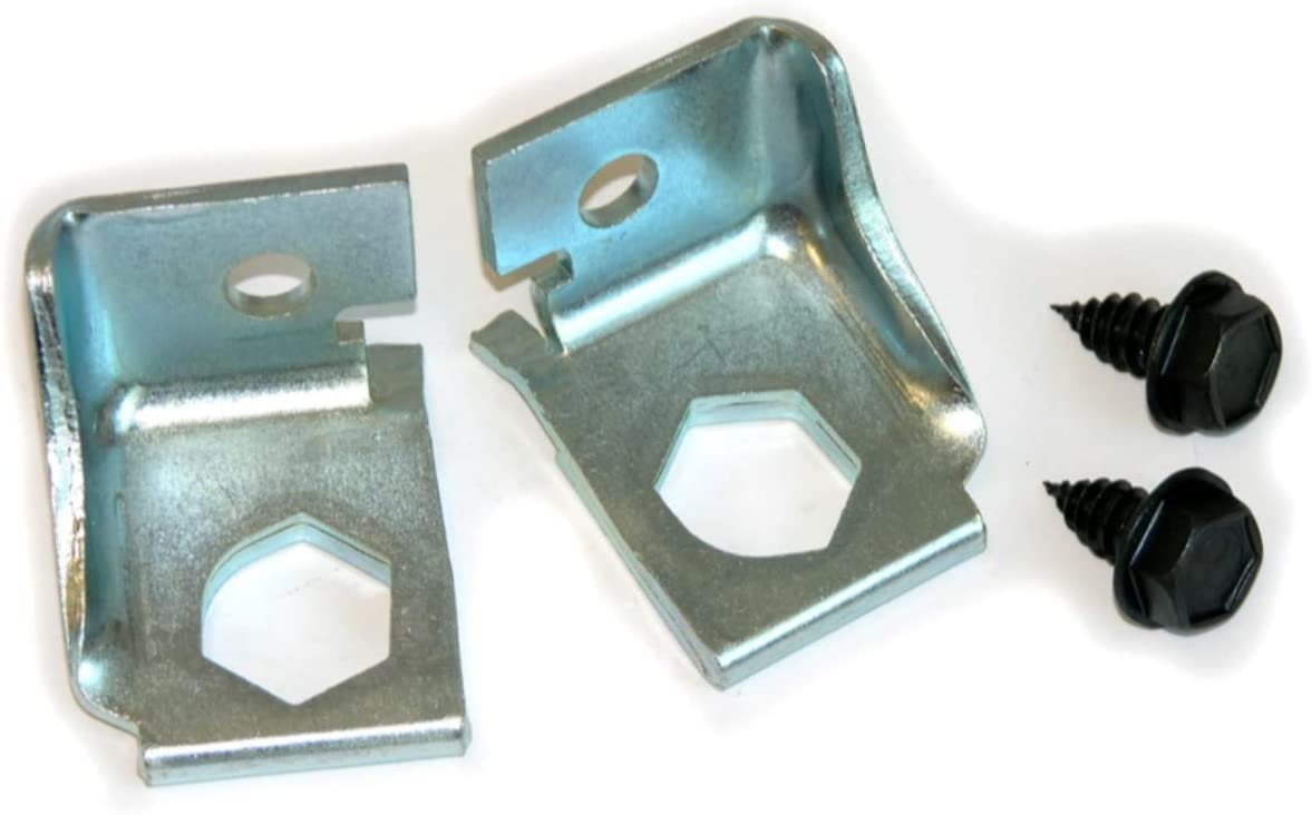 442 and Skylark E-2-5 GTO Inline Tube Brake Hose Bracket Pair Compatible with 1968 GM A-Body Chevelle
