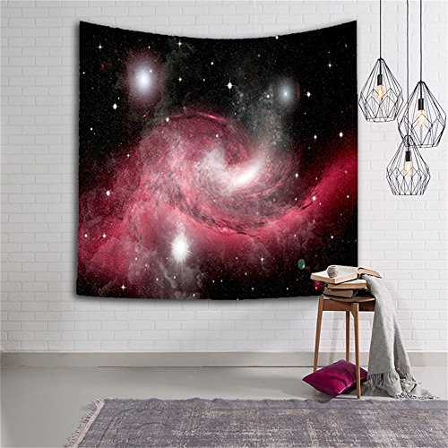 Nebula Star Cluster Space Decor Tapestry 3D Universe Galaxy Star Bedroom Living Room Dorm Wall Hanging - Vivid Printed Decorative Milky Bedding Bedspread Wall Art Picnic Beach Sheet HYC06-US #8