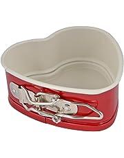 Moldes rojos para horno Patisse , moldes para quiche de cerámica con revestimiento antiadherente