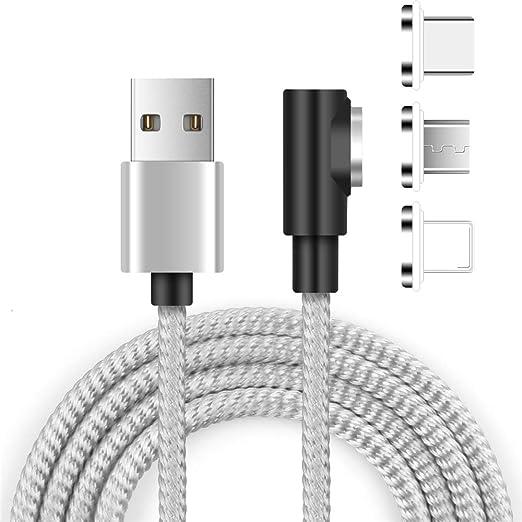 Cable de Cargador de teléfono magnético,Cable 3 en 1,ángulo Recto ...