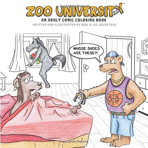 Zoo University: An Adult Comic Coloring Book College Zoo