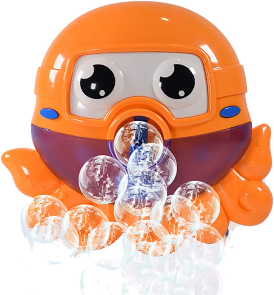 Bubble Maker,Coxeer Bath Bubble Machine Cute Animal Bubbles Blower Machine Bath Toy for Shower Bathtub