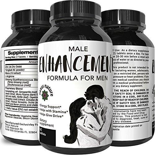 Male Enhancing Pills-Top Rated Natural Enhancer-Best Review Herbal Maca Root Powder + Tongkat Ali Extract – Libido Booster – Men Increase Stamina + Sex Drive – 745 mg Tablets (Drive Sexual Men)