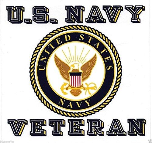 MFX Design Us Navy Seal Veteran Bumper Sticker Decal Clear Background Vinyl - Made in USA 4.5 in. x 4 in.