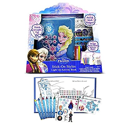 Tara Toy Frozen Stick-on-styles Light up Activity Book | Educational Computers
