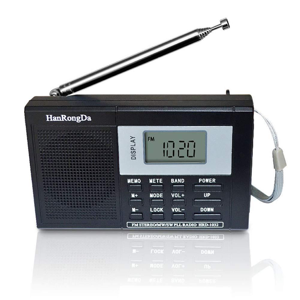 Radio Black Am//fm//sw Alarm Clock Portable Bluetooth Digital Shower Radio