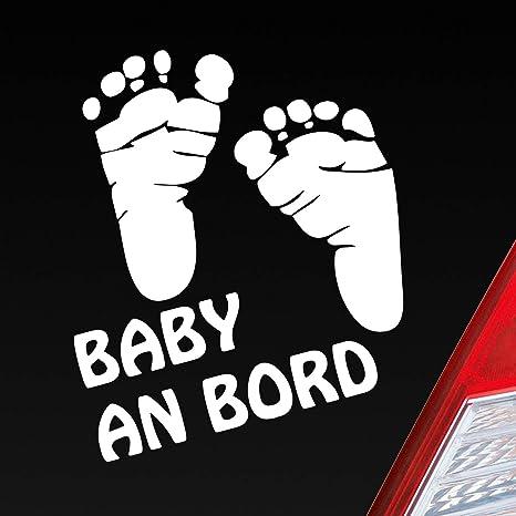 Auto Aufkleber In Deiner Wunschfarbe Baby An Bord Füße On Board Junge Mädchen 15x14 Cm Autoaufkleber Sticker Folie Auto
