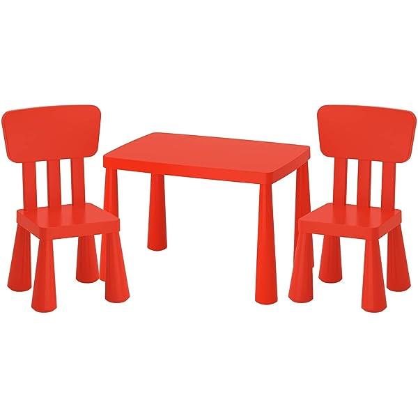 Ikea Mammut Lätt mesa infantil + 2 sillas infantiles niños muebles ...