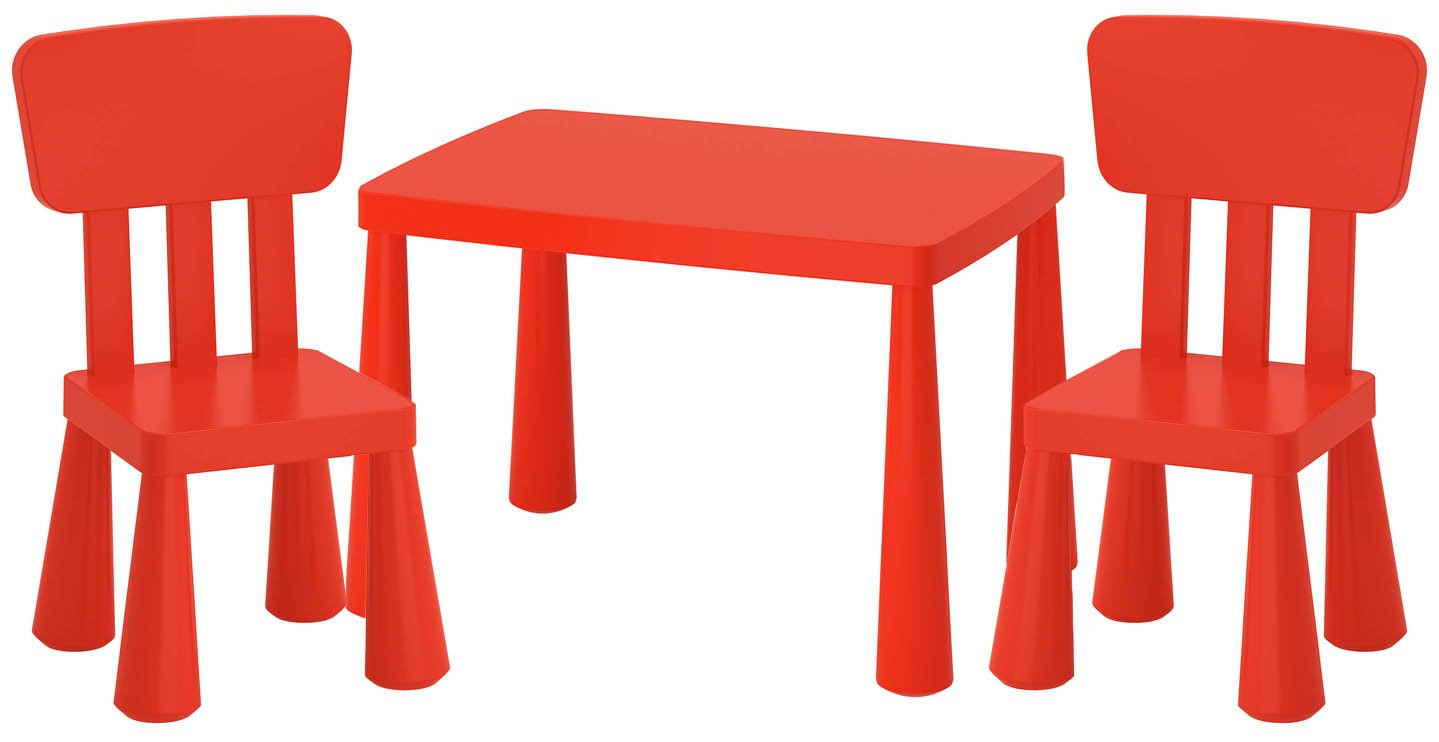 Ikea Mammut Lätt mesa infantil + 2sillas infantiles niños muebles mesa silla IK15de czer Unbranded