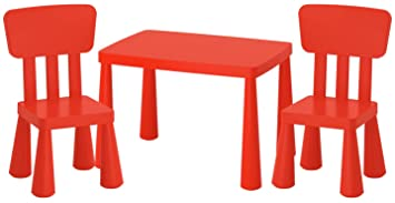 Tavolo Bambini Ikea.Ikea Mammut Ik15 Czer Set Tavolo E 2 Sedie Per Bambini