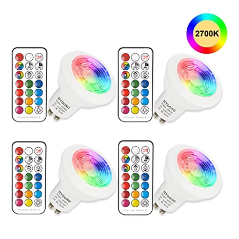 Faretti Led G10.Lampadine Led Rgb Gu10 3w Colorate Cambia Dimmerabile Faretti Led Con Telecomando 12 Colori Bianco Caldo 2700k 200lm Ac85 265v Per Applique