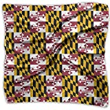 Maryland Flag Pride Women's Fashion Print Square Scarf Neckerchief Headdress M