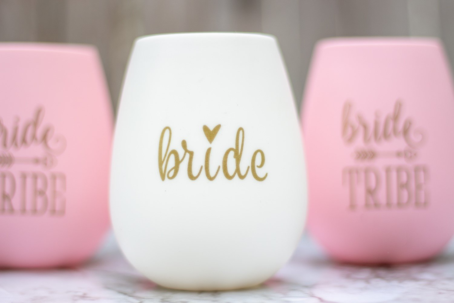 10 piece set of Bride Tribe and Bride Silicone Wine Cups, Perfect ...