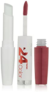 Maybelline New York Super Stay 24 2-Step Lipcolor, Reliable Raspberry [010] 1 ea (Pack of 2)