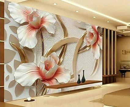 Generic 3d Canvas Floral Wallpaper For Bedroom Living Room Hall