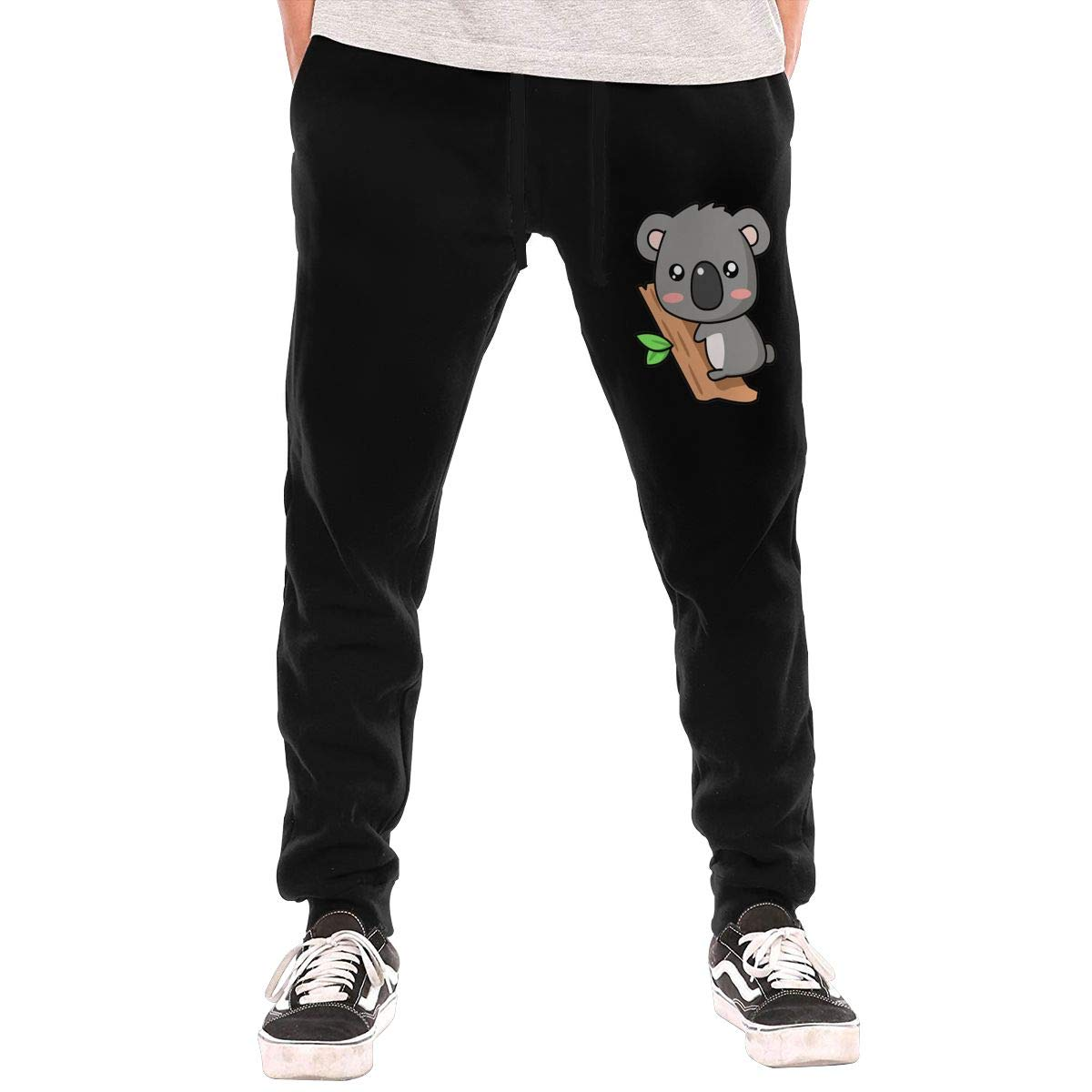 Cute Koala Drawstring Waist,100/% Cotton,Elastic Waist Cuffed,Jogger Sweatpants