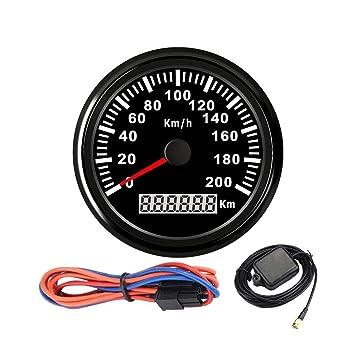 Velocímetro GPS digital con velocímetro GPS para coche, barco con retroiluminación, 85 mm,