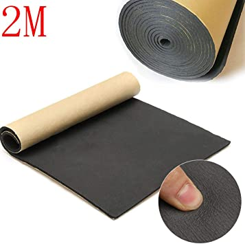 1*Cotton Self Adhesive Closed Cell Foam Car Sound Proofing Deadener Insulations