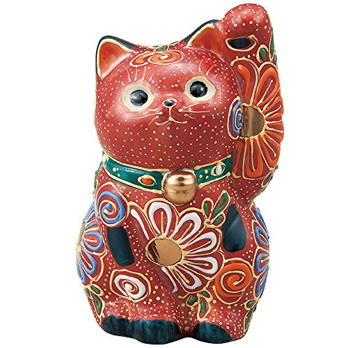Japanese Maneki Neko Right Hand Lucky Cat Mori Kutani Ceramic