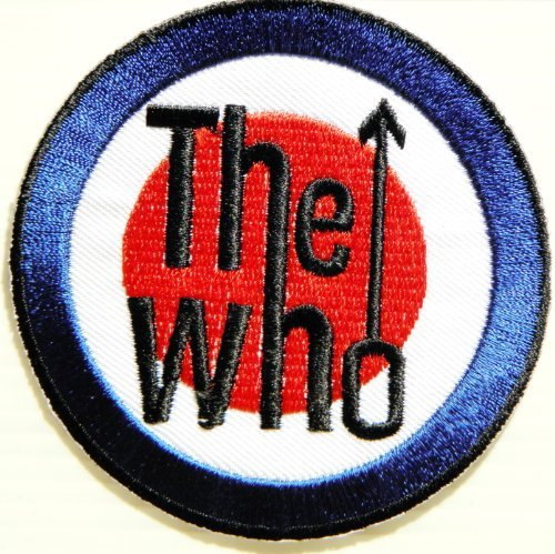 THE WHO Music Band Logo Jacket T shirt Patch Sew Iron on Embroidered Cloth,Size 3Inch X 3Inch